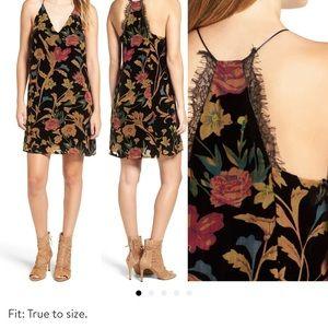 Astr Velvet Dress